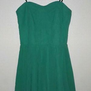 Green Strapless Guess Dress